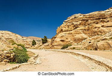 Road to the Siq at Petra