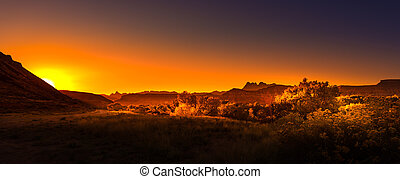 Road to Zion at Sunrise