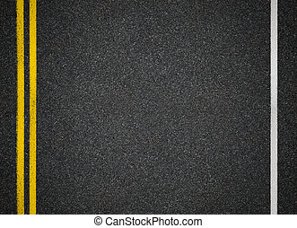 Road top view. Asphalt highway marks. - Asphalt highway road...