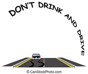 Road traffic do not drink drive message