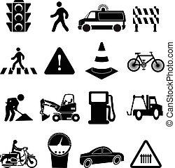 Road traffic icons se