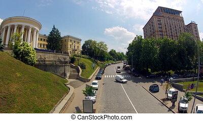 Road traffic in Kyiv, Ukraine