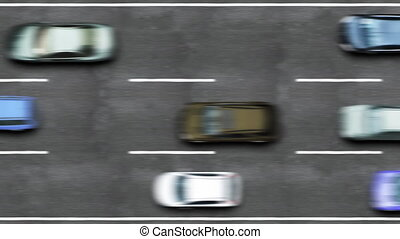 Road traffic on a highway