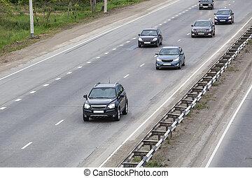 Road traffic on road