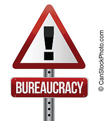road traffic sign with a bureaucracy concept illustration ...