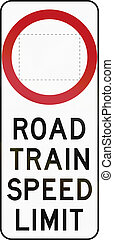 Road Train Speed Limit In Australia
