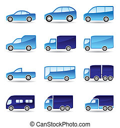 Road transport icon set