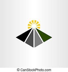 road travel logo icon vector element