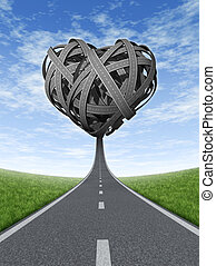 Road Trip Love - Road trip love with a road or street in...