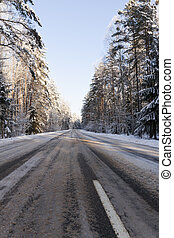 Road under the snow