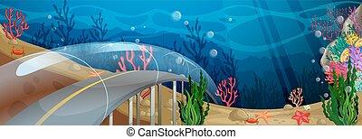 Road underwater