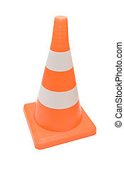 Road warning cone isolated on a white background
