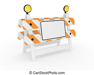 Road warning sign on a white background