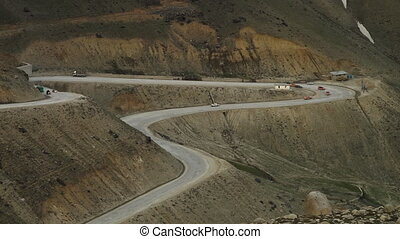 Road Winding Around Mountain