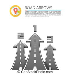 Road with an arrow up