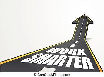 road Work Smarter - detailed illustration of a highway road ...
