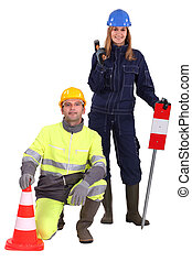 Road workers.