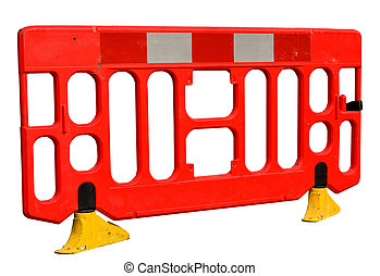 road works barrier.