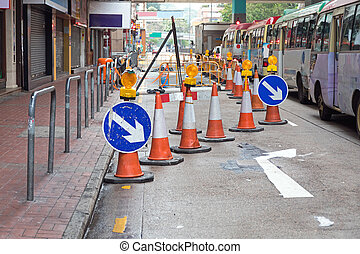 Road Works - One Lane Closed for Road Works Disruption