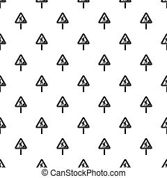 Road works sign pattern vector - Road works sign pattern...