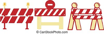 Roadblock icon isolated on white background