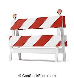 roadblock isolated on white background - roadblock isolated...