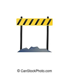 roadblock vector design template illustration