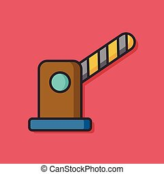 Roadblocks barrier vector icon