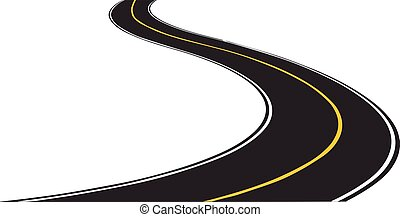 Road,it is isolated on the white background.
