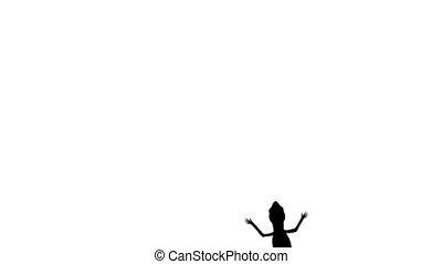 Roadkill lizard - Animation of a crawling lizard silhouette...