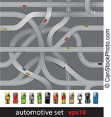 Roads and car collection