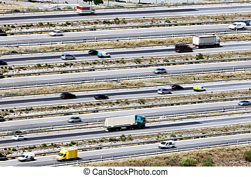 Roads and traffic.