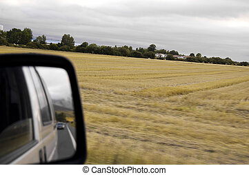 Roads for different concepts, agriculture, solitude, travel