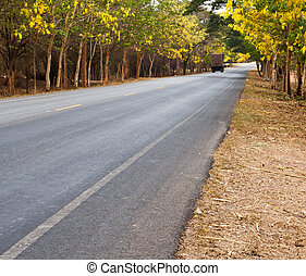 Roads in rural areas. - Roads in rural areas in Thailand
