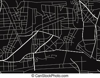 roads., map., plan, illustration, ville, vecteur