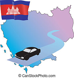 roads of Cambodia