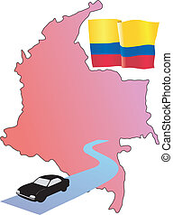 roads of Colombia