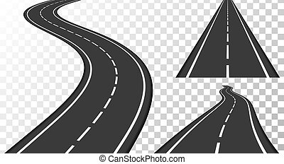 Roads - Vertical asphalt roads, vector eps10 illustration