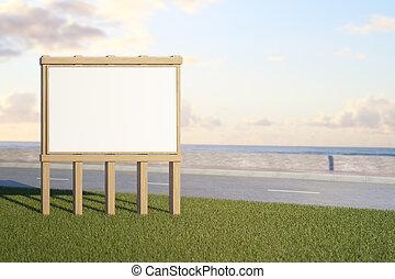 Roadside ad stand