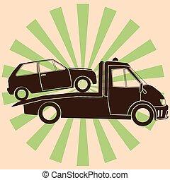 symbol tow truck - Roadside assistance symbol tow truck...
