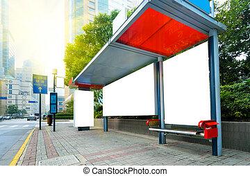Roadside billboards - The blank side of the road city...