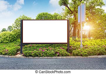 Roadside blank billboards