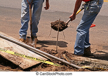 Roadside Construction Workers