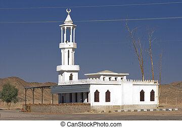 Roadside mosque in the Egyptian desert
