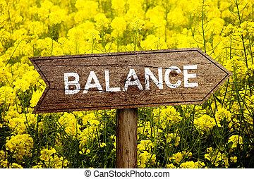 roadsign, équilibre