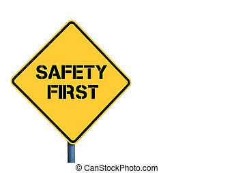roadsign , μήνυμα , ασφάλεια , κίτρινο , πρώτα