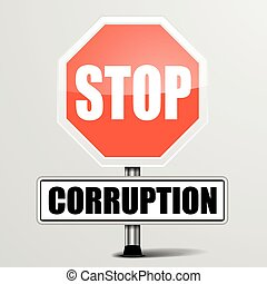 roadsign, arrêt, corruption