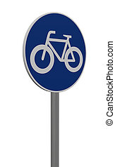 roadsign bicycle