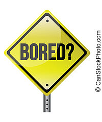 roadsign, pojęcie, znudzony