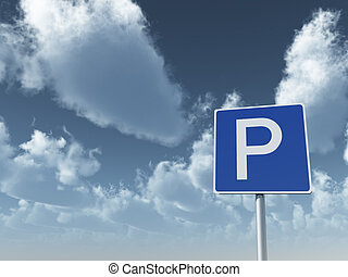 roadsign, stationnement